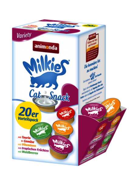 Animonda Katzensnack Milkies Variety Cups 20x15g | mdpetfood.at