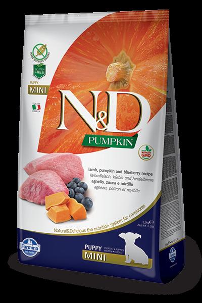 N&D Grain Free Puppy Mini Pumpkin Lamb & Blueberry (Hund)